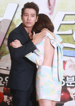 [포토] 주상욱-왕지혜, '달달한 터치'