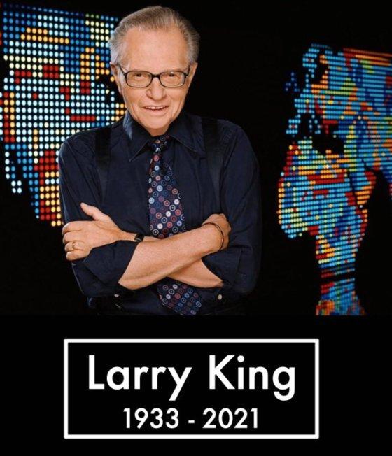'토크쇼의 황제'래리 킹, 코로나 19로 사망 … 병이 알려진 지 20 일 만에